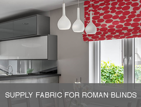 Supply Own Fabric Roman Blinds