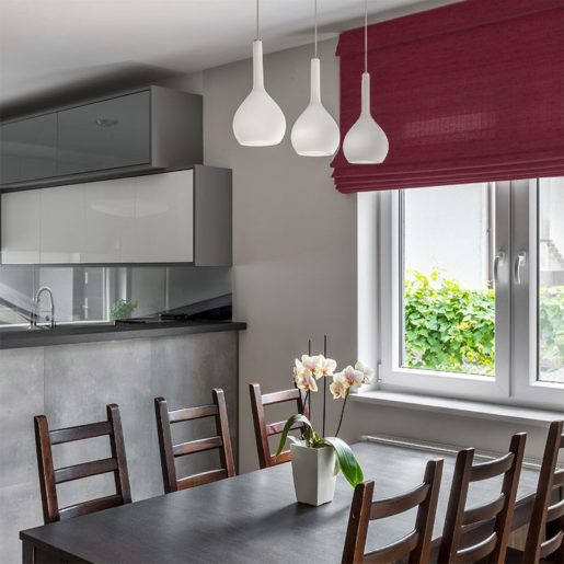 blinds luxe burgundy
