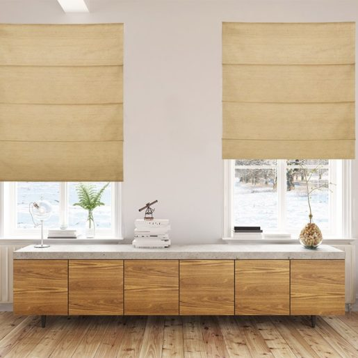 roman blinds luxe gold