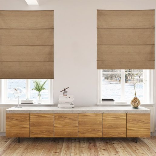 roman blinds luxe spice