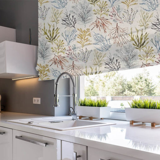 ready made blinds coral tropical
